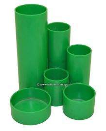 Plastic desk organizer 70s, green