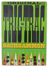 Vintage bordspel, Original Tric Trac Backgammon, Jumbo 1974