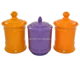 Vintage set of three plastic storage canisters
