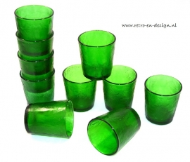 Arcoroc Sierra glassware, drinking glasses in green