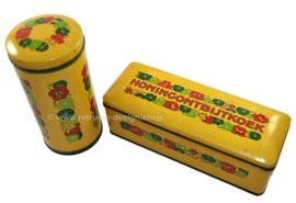 Vintage Verkade beschuitbus en peperkoekblik model Oostindische kers