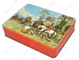 """Boîte à cigares vintage fabriquée par Champ Clark & Lugano, """"Hunting"""""""
