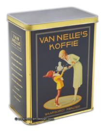 Vintage blik Van Nelle's Koffie, waarborgt kwaliteit