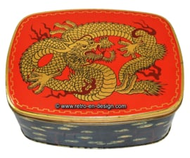 Vintage tin by Cote d'Or with Chinese dragon