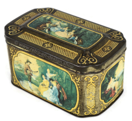 "Vintage tin made by ""De Gruyter goudmerk thee"""