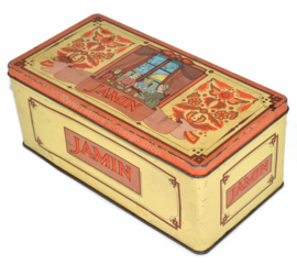 Vintage tin box for biscuits by C. Jamin