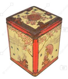 Boîte à thé rectangulaire avec scènes orientales en relief pour NIEMEYER