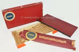 Origineel vintage Scrabble spel met de bijbehorende houten draaitafel uit 1956