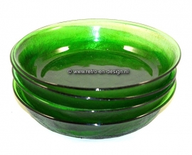 Arcoroc Sierra Glassware, soup plates in green