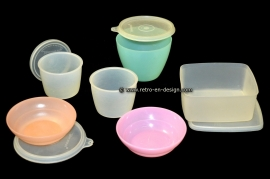 Retro vintage Tupperware assortment from the 1960s / 1970s