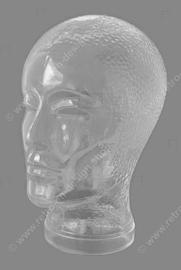 Vintage transparenter Glaskopf aus den 60er - 70er Jahren