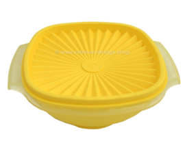 Yellow Tupperware bowl with servalier lid
