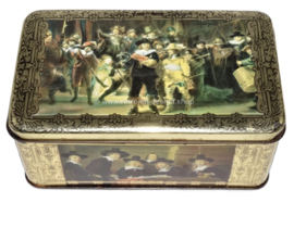 """Vintage cigars tin by """"ERNST CASIMIR"""", images of paintings by Rembrandt"""