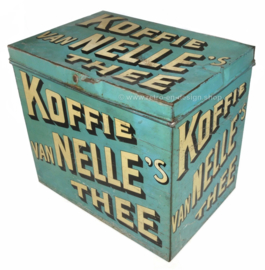 Groot formaat vintage Van Nelle's Koffie Thee winkelblik