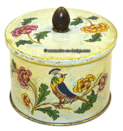 Vintage Côte d'Or chocolate tin with bird 1955 - 1965.