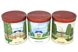 Serie de tres latas vintage con imágenes de Het Loo, Drakestein y Soestdijk