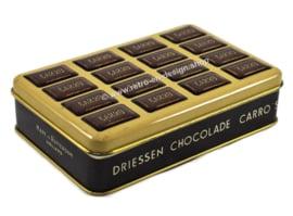 Vintage blikken doos voor Driessen chocolade Carro's