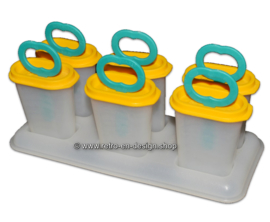 Vintage 70s popsicle molds with holder, by Tupperware
