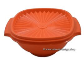 Vintage Tupperware bowl with servalier lid, orange