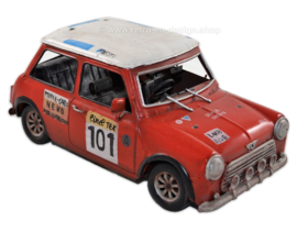 Blikken auto model: Mini Cooper Rally Car -  Monte Carlo NEKO 101