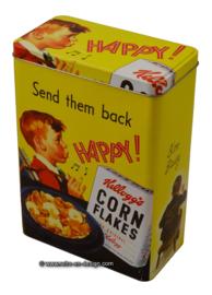Vintage Kellogg's 2005™ rechthoekig cornflakes blik