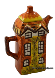 Vintage englische Kaffeekanne 'Price and Kensington Cottage Ware' handgemalt