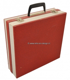 Vintage record storage case 60s by Cheney England