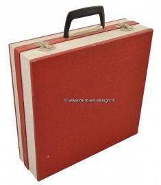 Vintage-Plattenkoffer / Speichereinheit 60er jahre hergestellt durch Cheney England