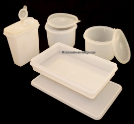 Retro Vintage transparent '60s / '70s storage containers by Tupperware
