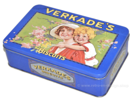 Vintage tin by Verkade with mother and child in nostalgic design