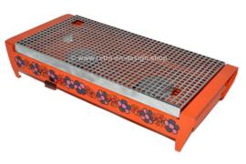 """Réchaud vintage orange avec motif de fleurs appelé """"Diana"""". Fabriqué par Brabantia"""