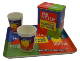 Retro Van Nelle Dienblad met blik en koffiebekers