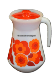 Arcopal France Lotus pitcher, red / orange