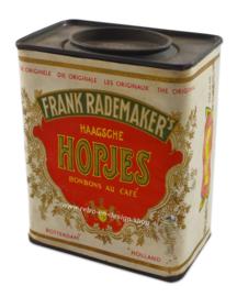Vintage blik Frank Rademakers Haagse hopjes