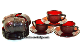 Arcoroc Sierra cup and saucer in ruby red