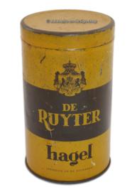 Ronde vintage blikken bus voor De Ruyter hagel