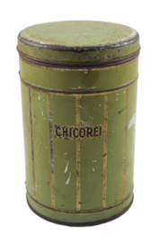 Vintage tin cannister for Chicorei - Chicoree