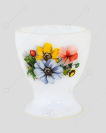 """Vintage egg cup with flower pattern """"Anemones"""" from Arcopal France"""