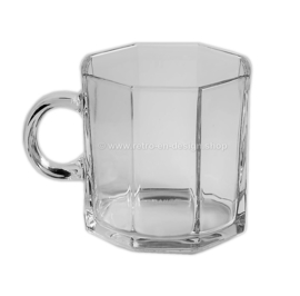 Glass coffee cup Arcoroc France, Octime Clear