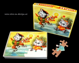 Simplex Triplex Jigsaw. Chats de patinage