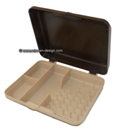 Vintage Curver portable sewing box, Minelle