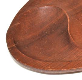 Vintage handmade wooden design bowl by Laur Jensen for Odense Dänemark