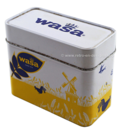 Wasa tin in yellow, white and blue for Wasabröd