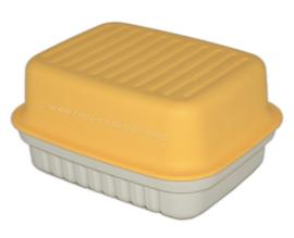 Serveur Cracker de Tupperware Vintage en jaune / blanc