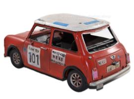 Tin car model: Mini Cooper Rally Car -  Monte Carlo NEKO 101