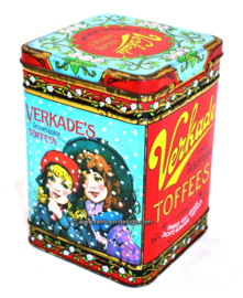Vintage tin by Verkade for sorted toffees
