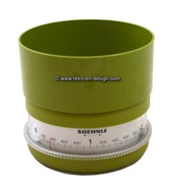 Soehnle early seventies kitchen scale, green