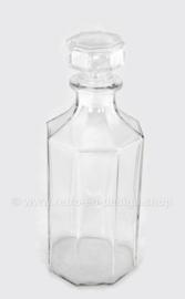 Vintage Glaskaraffe mit Stopfen von Arcoroc France, Luminarc, Octime-Clear
