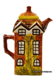 Cafetière anglaise Vintage «Price and Kensington Cottage Ware» peinte à la main