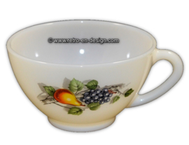 Tea cup or soup bowl, Arcopal Fruits de France
